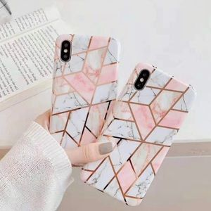 NEW iPhone XS MAX Geometric Marble Case